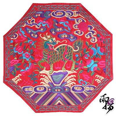 彩绘伞桃花图片手绘